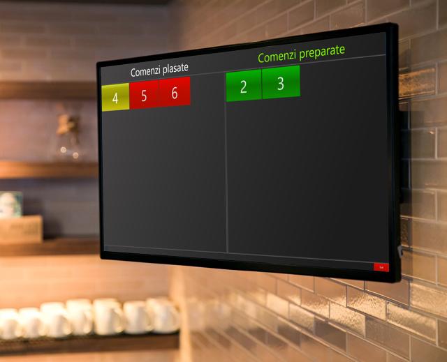 monitor fast food